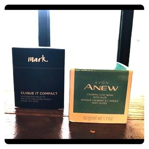 Avon Set clay Mask & Free It Compact by Mark